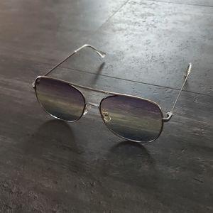 Accessories - Violet Rainbow Ombre Classic Aviator Sunglasses